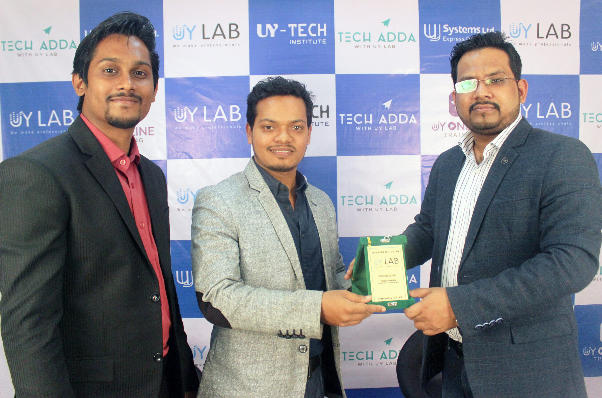 Faisal Mustafa Received Award as Special Guest from TECH ADDA WITH UY LAB