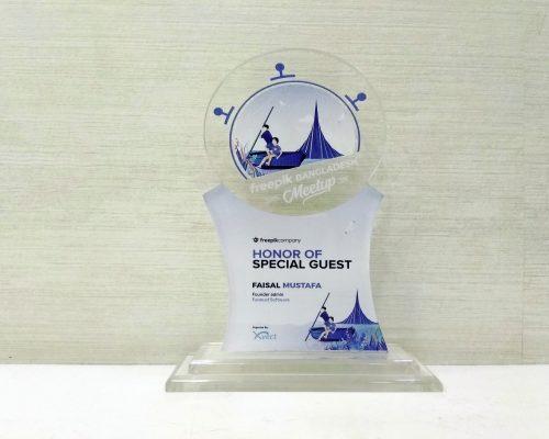 Faisal Mustafa Received Award as a Special Guest from Freepik Bangladesh Meetup in 2019